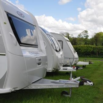 Caravans in storage at Woodovis Park
