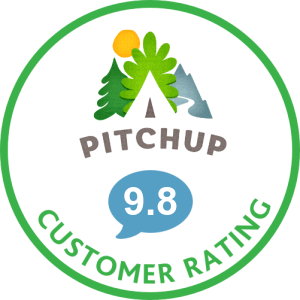 pitch up badge customer rating